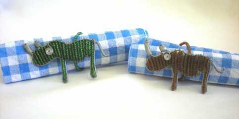 rhino serviette ring holders